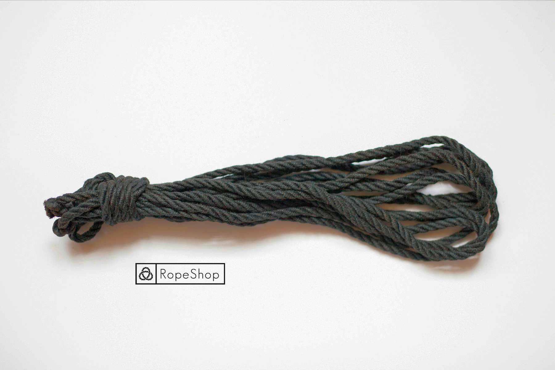 Джутовая веревка для шибари Korde-black