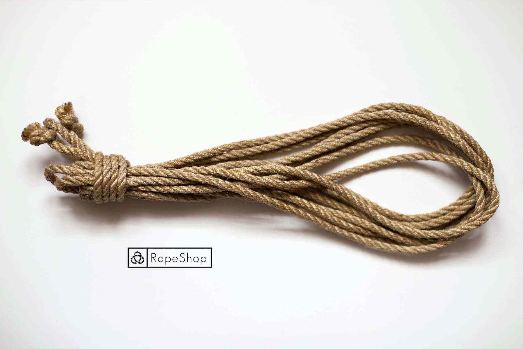 Джутовая веревка для шибари Korde-natural