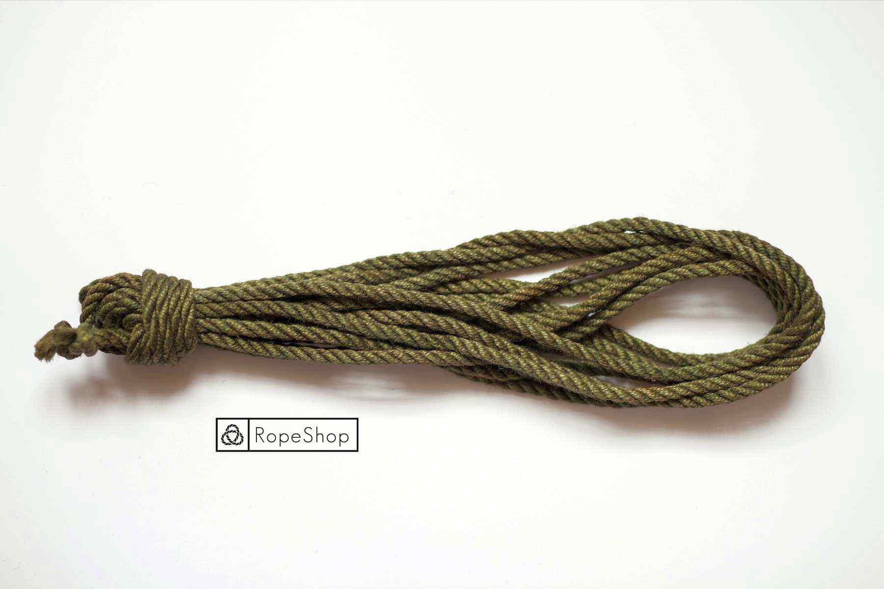 Джутовая веревка для шибари Korde-olive