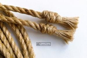 узлы на концах веревки для шибари