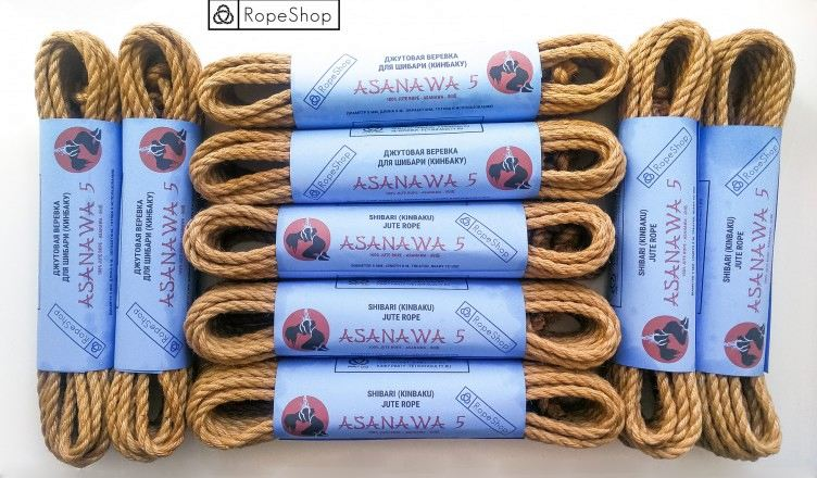 комплект веревок для шибари asanawa 5 advance