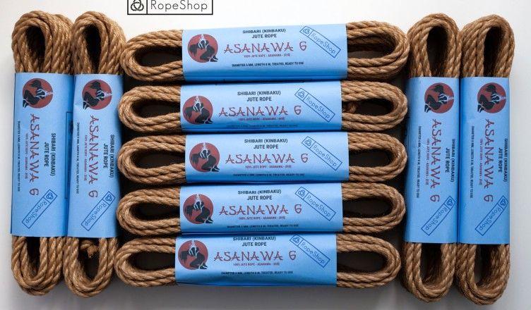 Комплект веревок для бондажа шибари Asanawa 6 Advance (9 штук)
