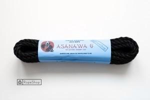 Веревка для шибари 6 мм. джутовая Asanawa 6 (Japan) обработанная, черная