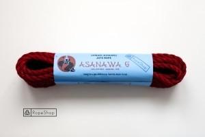 Веревка для шибари 6 мм. джутовая Asanawa 6 (Japan) обработанная, красная