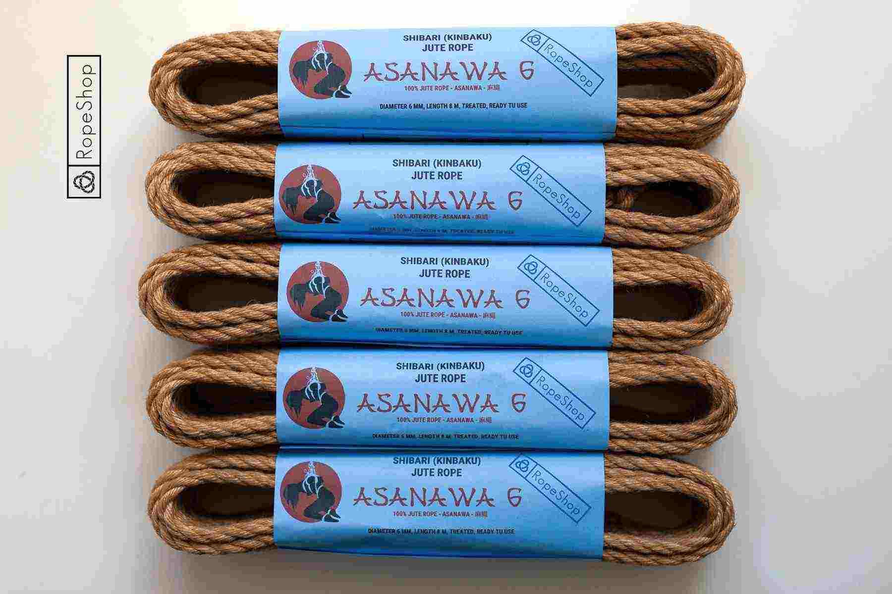 Asanawa 6 Start — комплект веревок для бондажа шибари (5 штук). Made in Japan.
