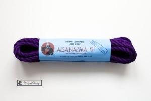 Веревка для шибари 6 мм. джутовая Asanawa 6 (Japan) обработанная, фиолетовая