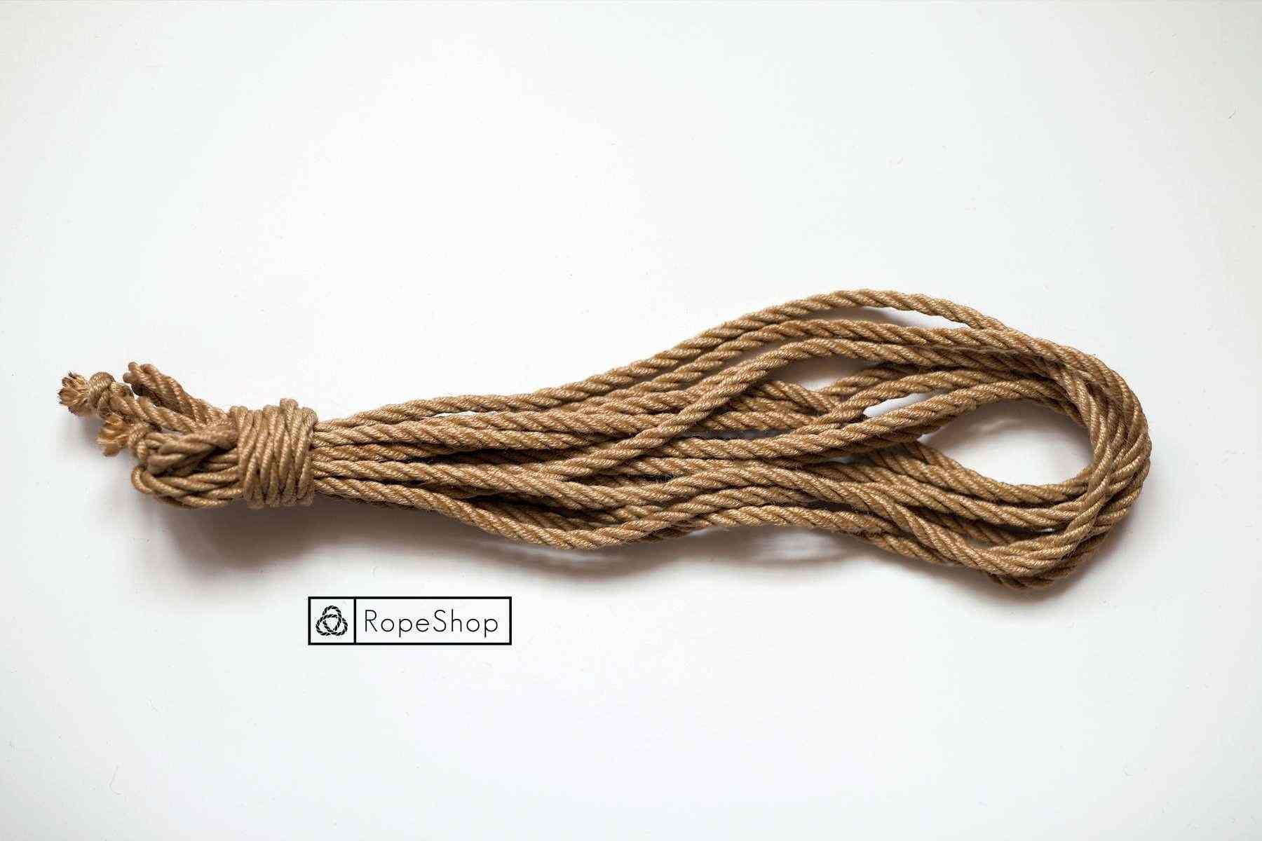 Джутовая веревка для шибари asanawa-naturale