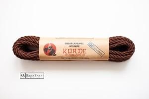 Веревка для шибари джутовая Korde (EU) обработанная, шоколадная