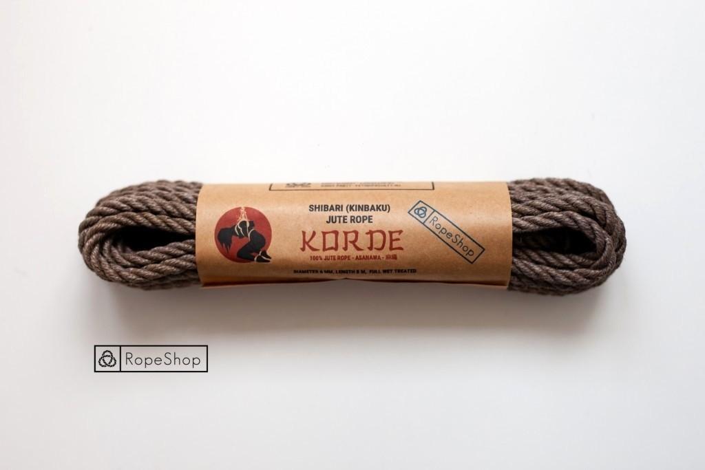 Веревка для шибари джутовая Korde (EU) обработанная, светло-серая