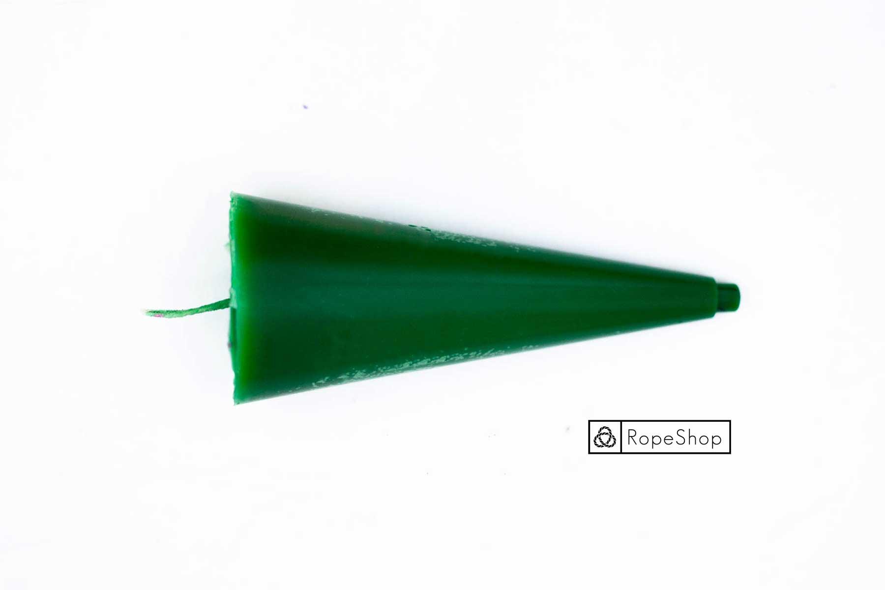 Свеча парафиновая окрашенная, зеленая